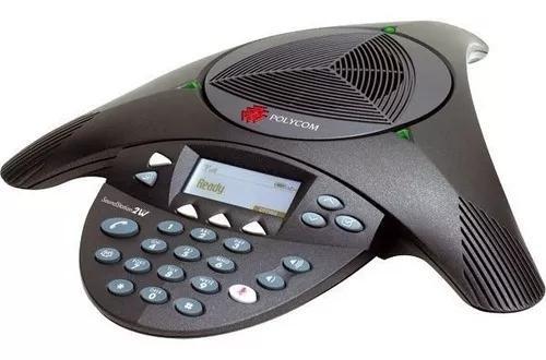 Audioconferência polycom soundstation2 com visor s