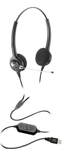 Fone headset usb epko compact voip biauricular felitron