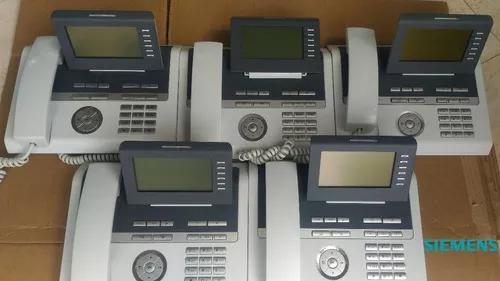 Kit 5 telelefone ip s/fonte openstage 40 hfa - unify si