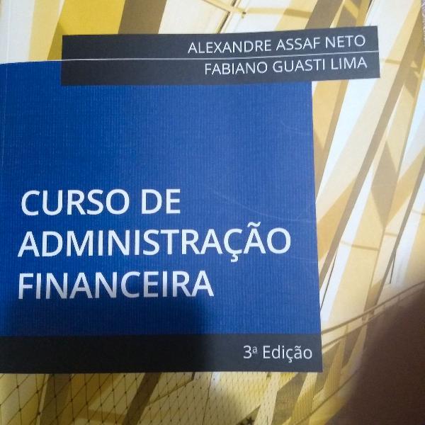 Livro administração financeira
