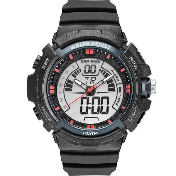 Relógio mormaii masculino acqua preto mo8902aa/8r
