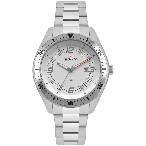 Relógio technos masculino racer prata 2115mqp/1b