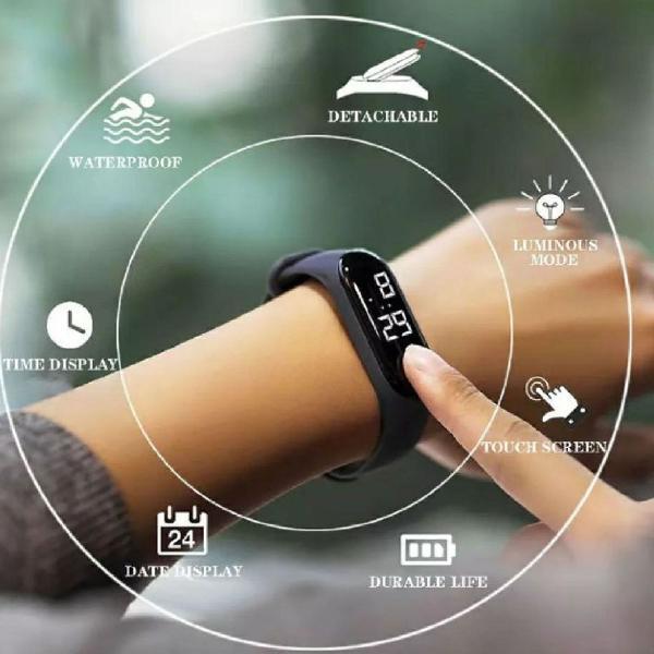 Relógio touch unissex