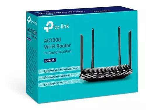 Roteador tp-link archer c6 2.4/5.0 ghz ac1200 gigabit