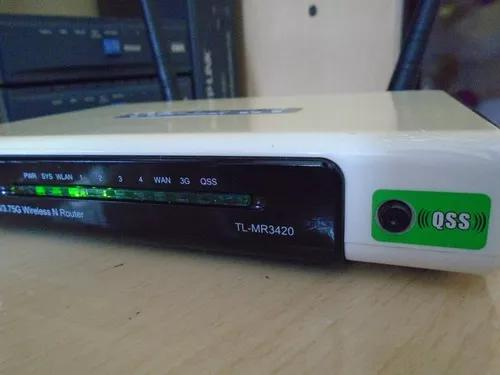 Roteador wireless 3g. tp-link tl-mr3420 (ler o anúncio)