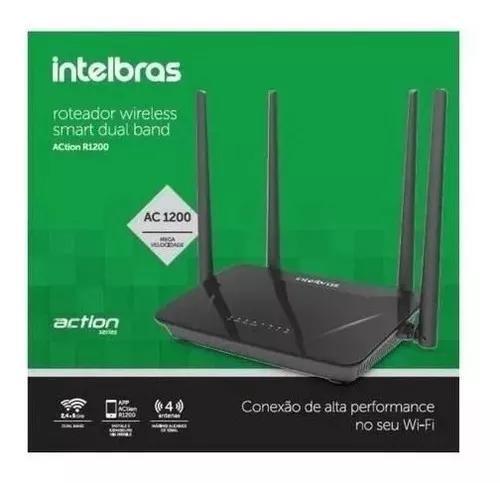 Roteador wireless action r1200 300mbps 4 antenas - intelbras