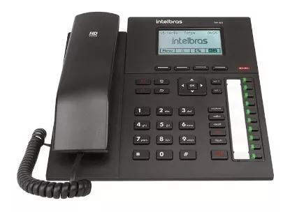 Telefone ip voip com display gráfico lcd tip 425 intelbras