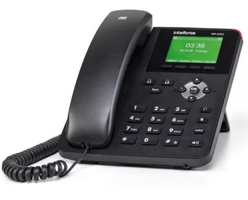 Telefone ip voip tip 235g intelbras 2 contas sip 2.0 gigabit