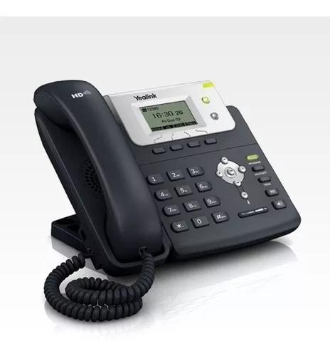 Telefone ip yealink c/ poe e fonte 110/220v sip t21p/e2