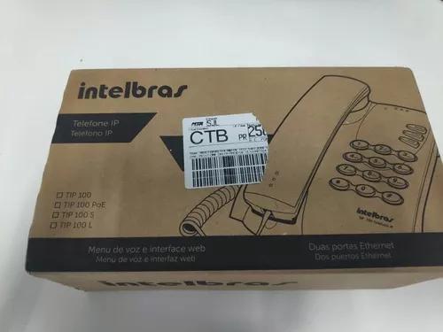 Telefone terminal ip intelbras tip100 novo s