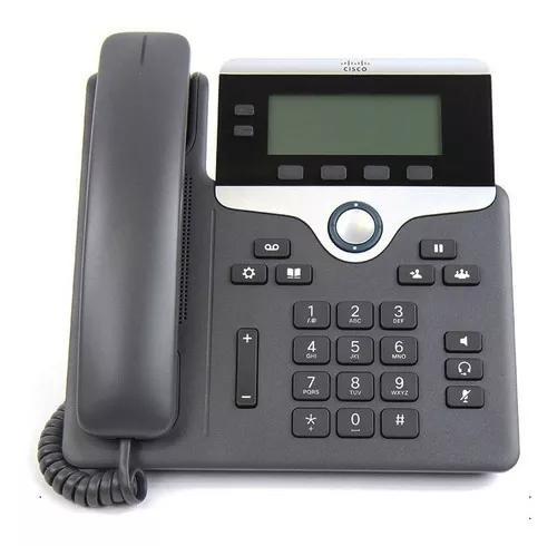 Telefone voip cisco cp 7821 2 linhas