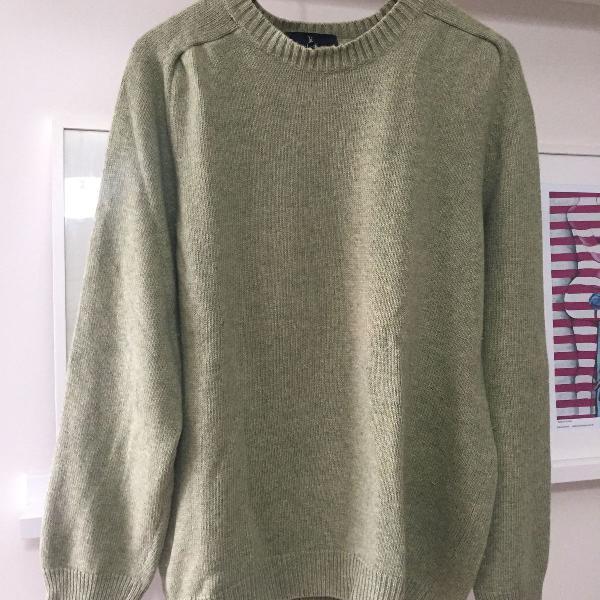 Blusa masculina malha verde