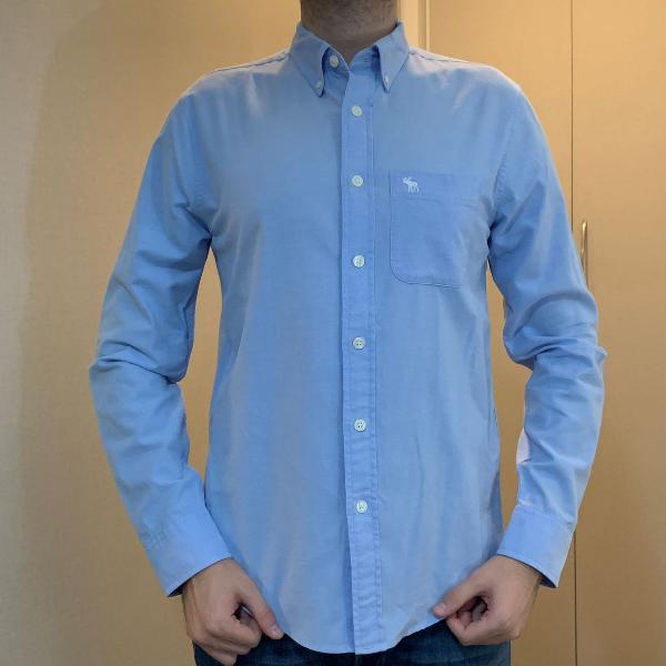 Camisa masculina abercrombie liza tamanho p azul