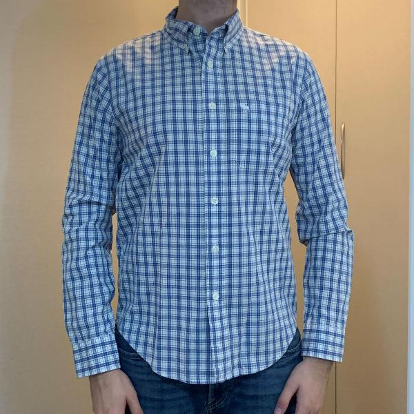 Camisa masculina abercrombie quadriculada tamanho p corte