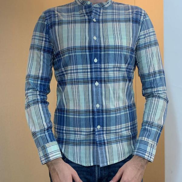Camisa masculina abercrombie quadriculada tamanho p gola