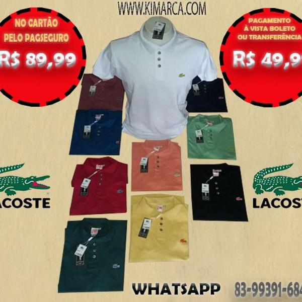Camisa polo lacoste originais todas as cores
