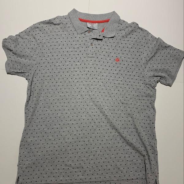 Camisa polo springfield cinza