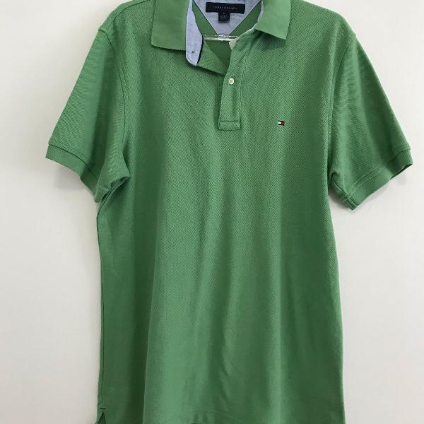 Camisa polo tommy hilfiger verde