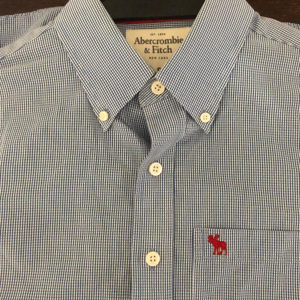 Camisa quadriculada abercrombie original tamanho p