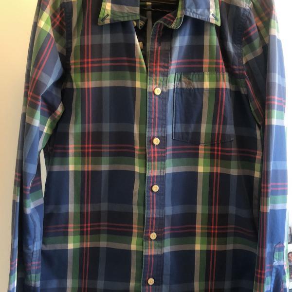 Camisa xadrez abercrombie&fitch