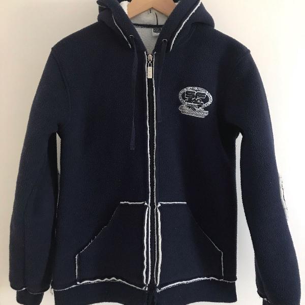 Casaco de inverno azul marinho masculino
