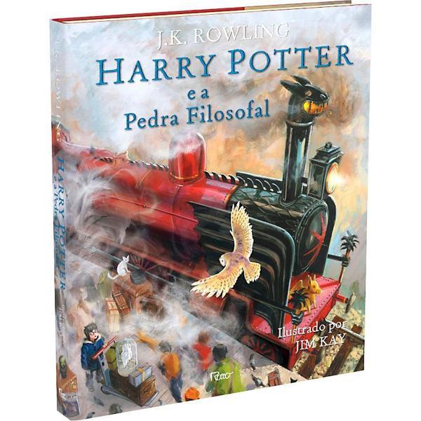 Harry potter e a pedra filosofal - edição ilustrada capa