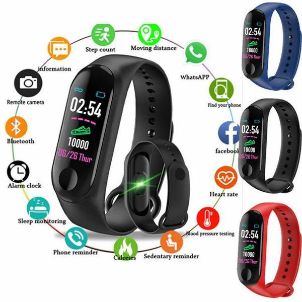 Relógio bracelete smart whatch m3 band preto
