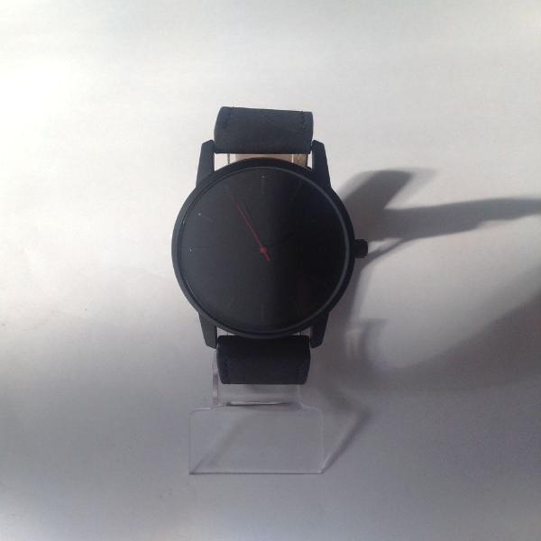 Relógio masculino preto esportivo