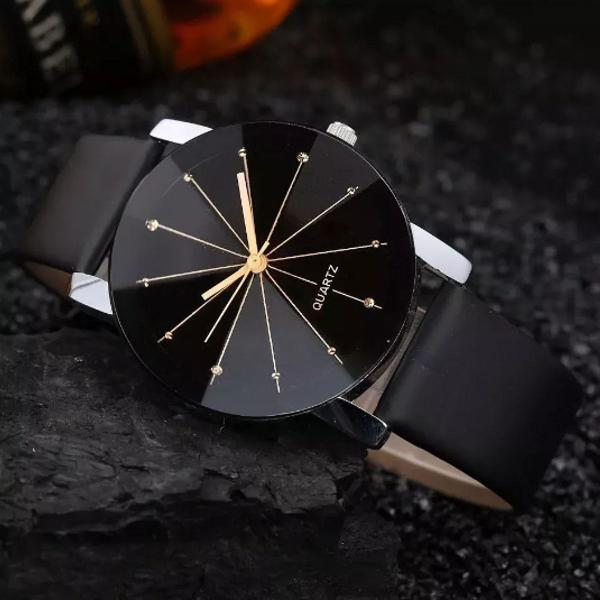Relógio unisex estilo diamante