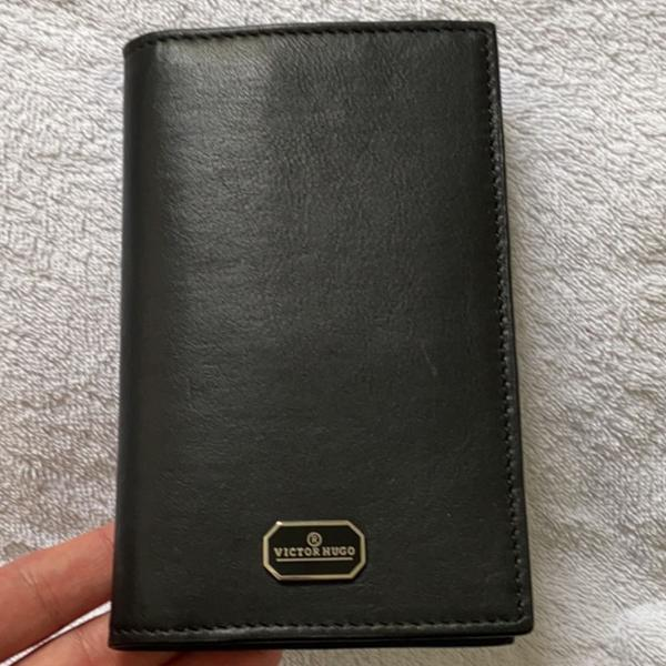 Victor hugo porta passaporte couro vitelo marrom