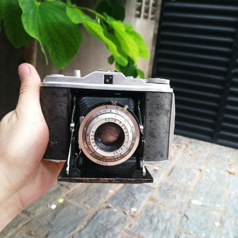Agfa isolette alemã maquina antiga de filme fotografia -