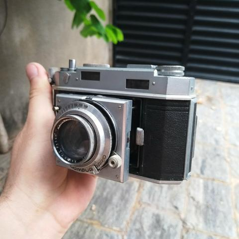 Agfa karat karomat alemã maquina antiga de filme fotografia