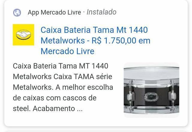 "Caixa 14"" x 4"" tama mt 1440 piccolo metalworks"