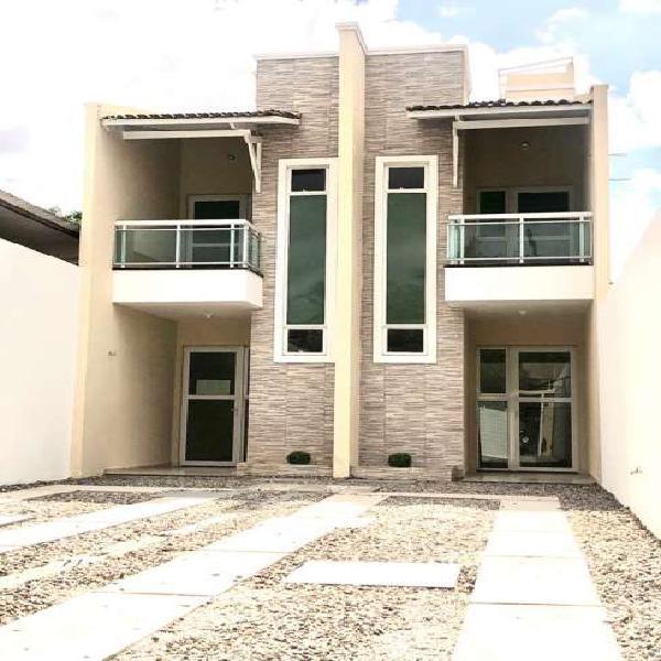 Casa dúplex nova com 3 quartos no planalto ayrton senna