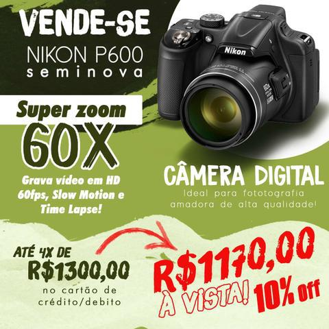 Câmera fotográfica nikon p600