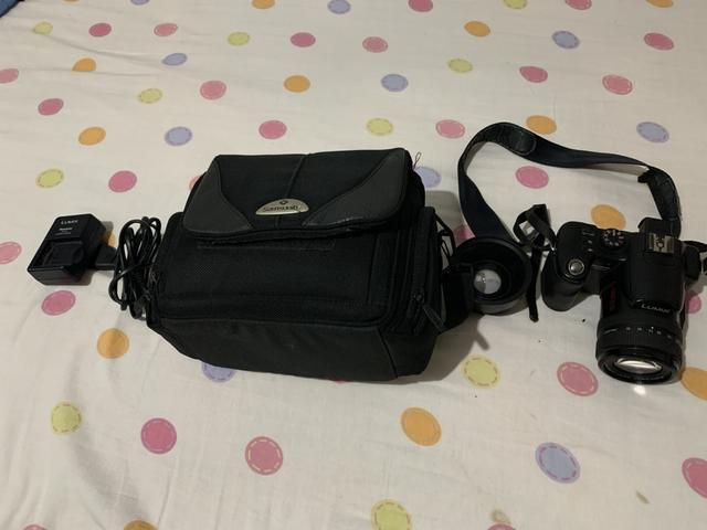 Câmera lumix semi-profissional