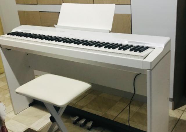 Em até 12x - kit piano digital privia px160 branco +