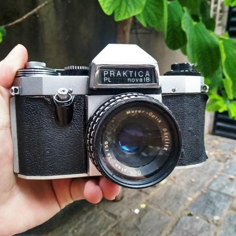 Praktica alemã camera antiga fotografica - antiguidade