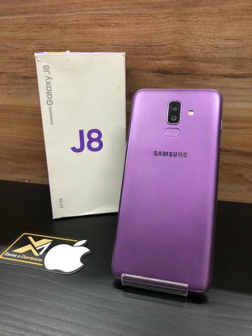 Samsung j8 roxo, celular top!