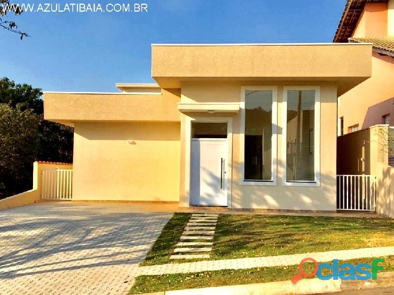 Casa nova em atibaia, terras de atibaia portaria, rondas, área de lazer, internet... 3 suítes,