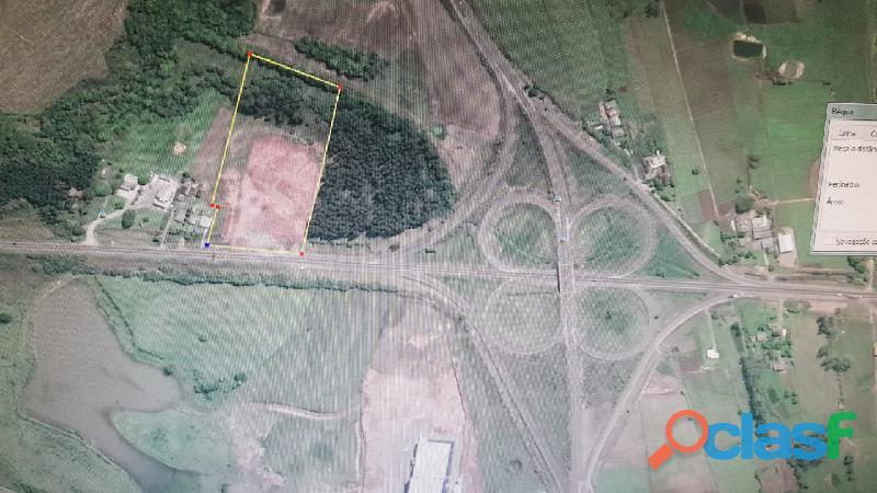 Vende se Terreno Industrial de 26.000 m2 Vera Cruz no trevo da BR 287 1