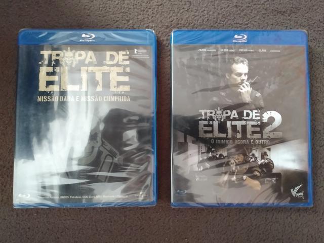 2 blu ray tropa de elite 1 & 2 (originais lacrados) r$ 40,00