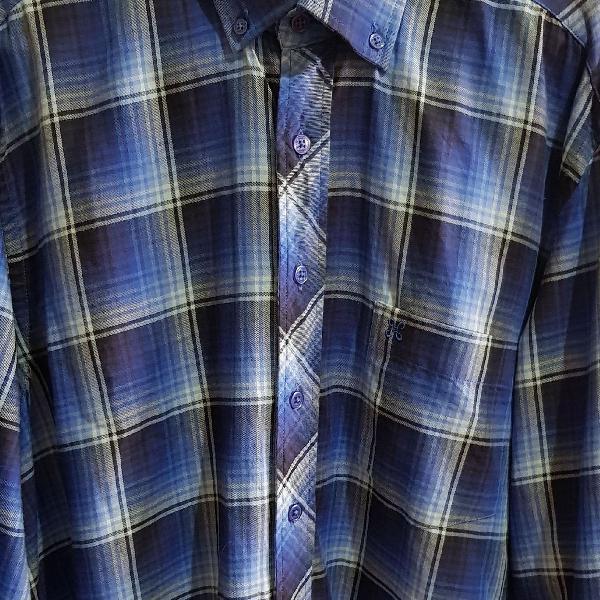 Camisa manga longa, xadrez. tamanho 3. marca: happy. usada.