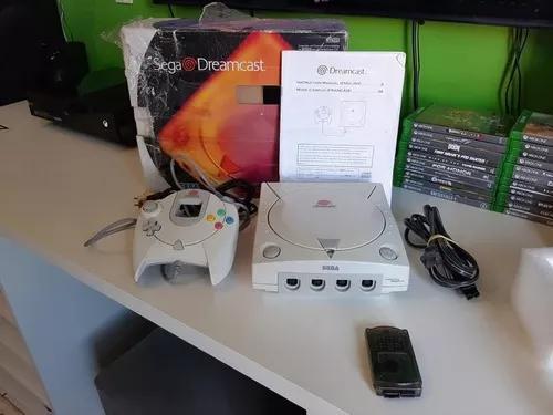 Dreamcast completo na caixa