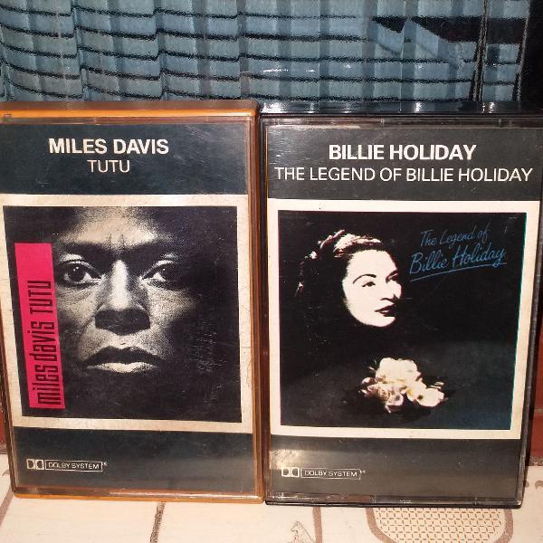 Fitas k7 originais jazz miles davis billie holiday