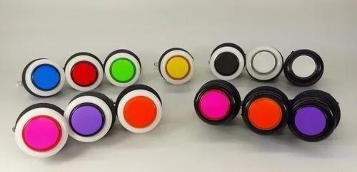 Kit 2 comandos aegir+20 botões de acrílico/ fliperama