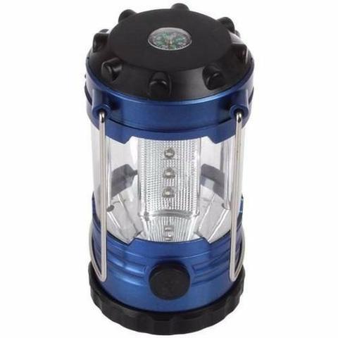 Lanterna lampião 12 led c/ajuste luminosidade bússola