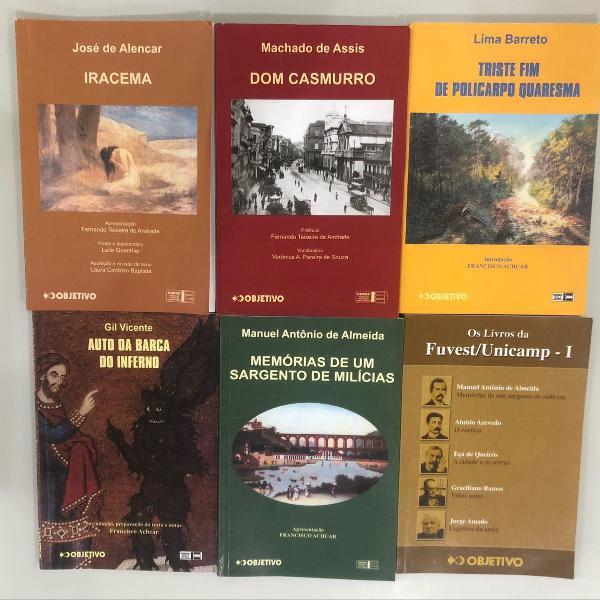 Livros fuvest / unicamp: iracema, dom casmurro, auto da