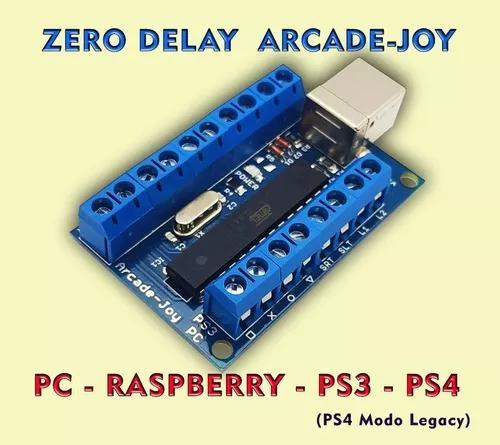 Placa zero delay pc ps3 ps4 modo legacy raspberry