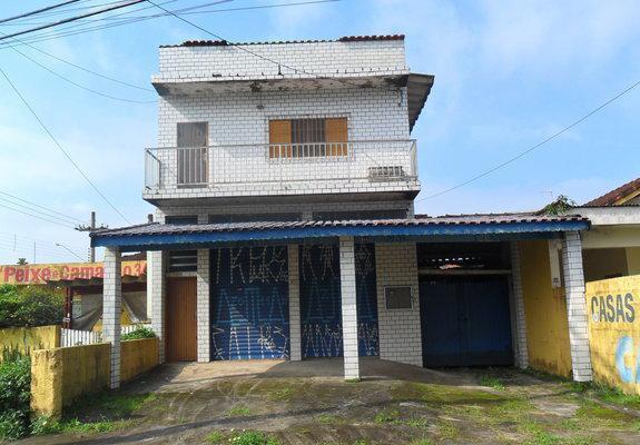 Salão comercial com residência - itanhaém
